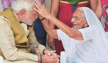 pm modi s mother taken to hospital with chest...