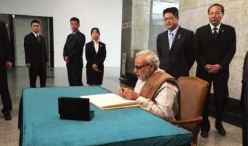 read pm modi s handwritten messages during his...