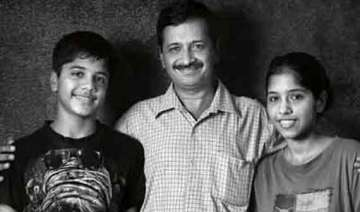 in pics arvind kejriwal and his children - India...