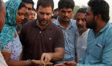 rahul gandhi vows to raise voice for farmers on...