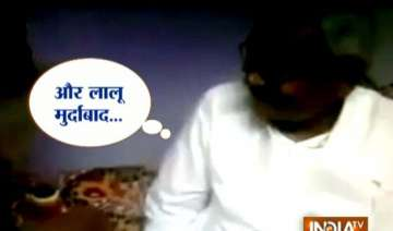 watch video tantrik embarrasses nitish with lalu...