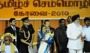 world tamil meet comes out as a dmk show of...