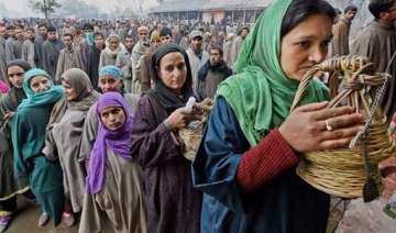 49 per cent polling in 4th phase in jammu kashmir...