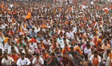 rss affiliated outfit holds protest against land...