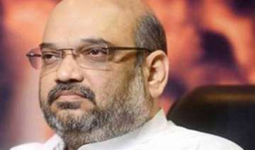 amit shah trapped in lift for 40 minutes rescued...