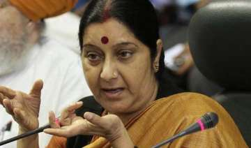 sushma draws flak over demand to make gita...