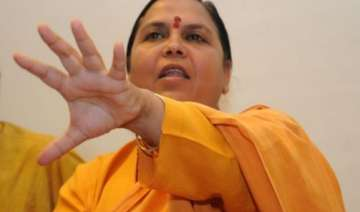 uma bharti meets akhilesh discusses ganga clean...