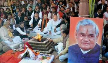 elaborate arrangements by bjp for vajpayee s...