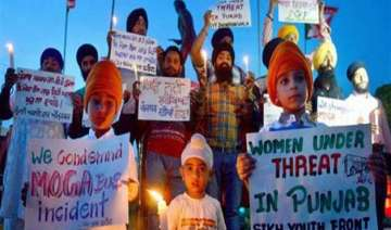moga bus incident unions hold protest across...