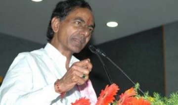 telangana cm vows to make hyderabad global city...