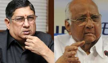 i am happy that srinivasan is out sharad pawar...