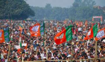 bjp leads the list of tainted candidates in...