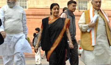 swaraj to succeed advani as leader of opposition...