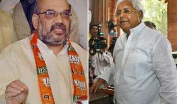 lalu yadav amit shah booked for use of abusive...