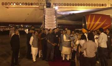 pm narendra modi returns home after 6 day tour of...
