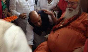 ls elections rajnath singh takes blessings of...