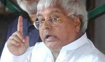lalu yadav blames railways for rajdhani express...