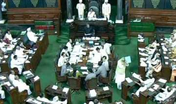 lok sabha adjourned over vadra land deals...