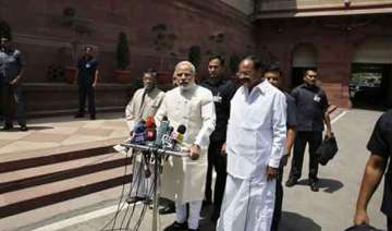 narendra modi introduces council of ministers in...