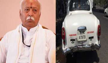 rss chief escapes unhurt in road accident - India...