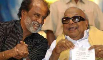 rajinikanth meets karunanidhi extends belated b...
