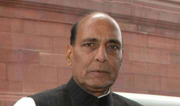 rajnath flags off relief material for uttarakhand...