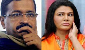 rakhi sawant wants to contest against arvind...