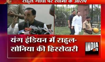 swamy alleges sonia rahul violated laws while...