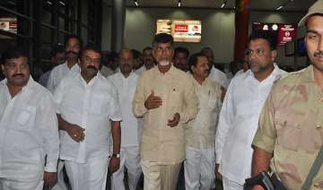 telangana naidu discharged leaves by air for...