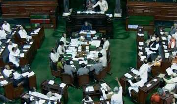 ayodhya uproar in parliament over arrest of...