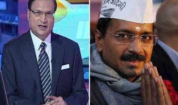 watch how rajat sharma exposed arvind kejriwal in...