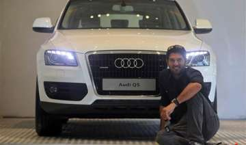 audi presented to yuvraj for world cup...