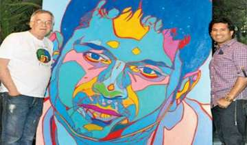 austrian artist zwerger paints sachin - India TV