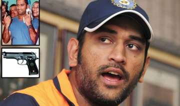 dhoni can now carry two pistols with him - India...