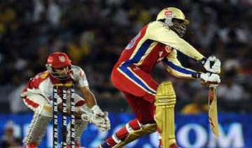 gayle powers royal challengers to 5 wicket win -...