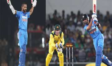 india australia kohli shikhar hit tons as india...