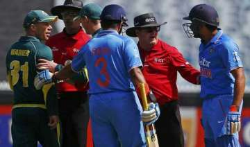 david warner fined over spat with rohit sharm -...