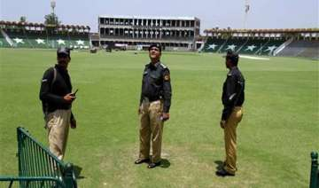 pakistan security officials rehearse for zimbabwe...