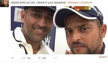 tweets pour in as dhoni retires... - India TV