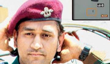 dhoni undertakes 1st of 5 parachute jumps from...