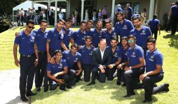 indian team attends afternoon tea session with...