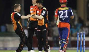 ipl 8 srh beat dd by 6 runs stay in hunt for play...
