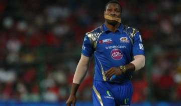 ipl 8 pollard puts on sellotape in mouth after...