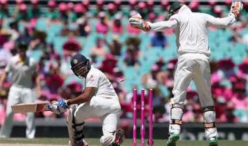 aus vs ind india reach 122 2 at lunch on 3rd day...