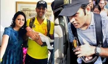 ms dhoni shares daughter ziva s first official...