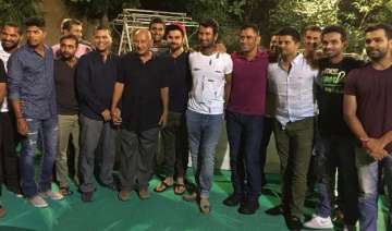 pujara hosts dinner party for team india at his...