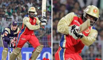 gayle storm blows away knight riders - India TV