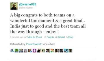 twitter flooded with wishes for victorious indian...