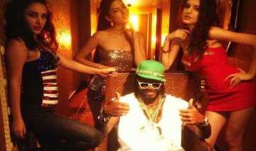 watch chris gayle shooting with hot girls - India...
