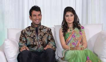 10 days after his engagement pujara strikes a...